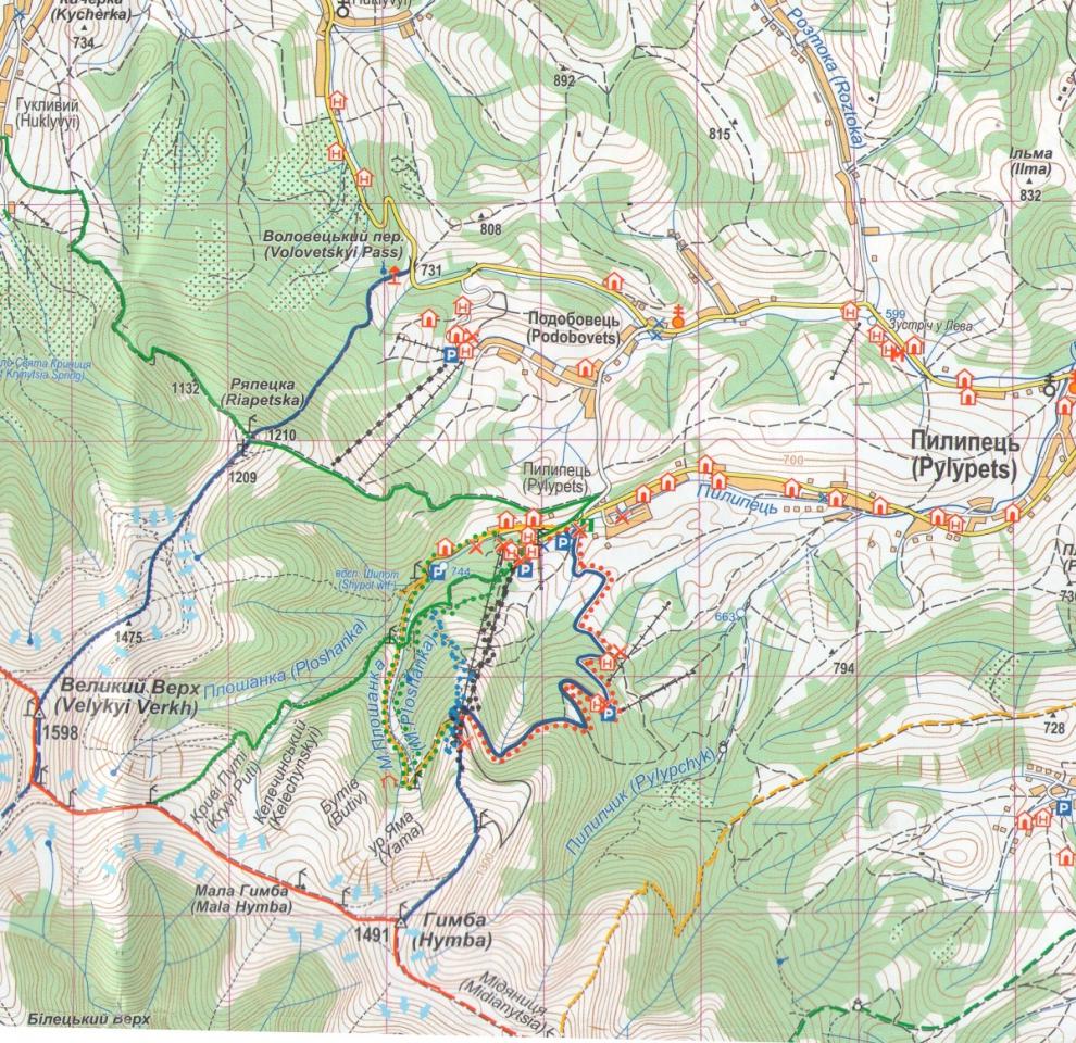 Borzava Karpaty Ukrajina Turisticka Mapa 1 50 000 Borzava
