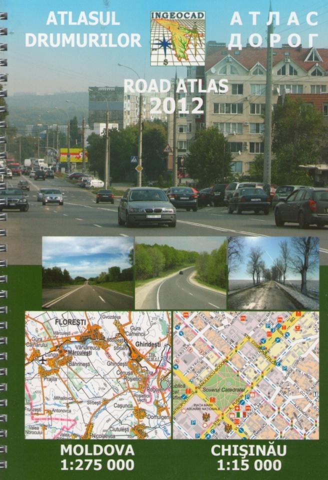 Autoatlas Moldavsko 1:275.000 a Kišiněv 1:15.000, Дорожній Атлас Молдова 1: 275 000 та Кишинів 1: 15 000