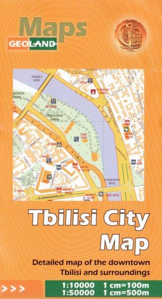 Tbilisi, Gruzie - mapa 1:50.000 + 1:10.000