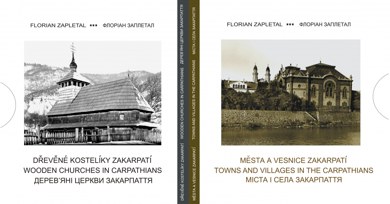 Papírový obal (krabička) pro soubor 2 fotoknih Floriana Zapletala